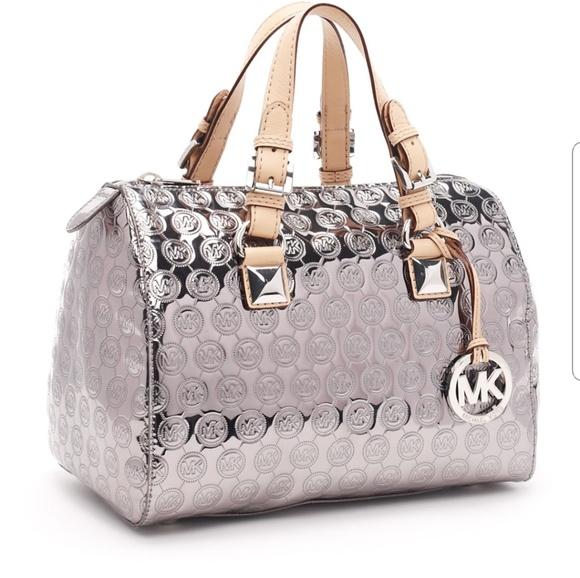 713ef2a185ac78 Michael Kors mirror mattalic greyson satchel. M_5be567842e14786196e91abb